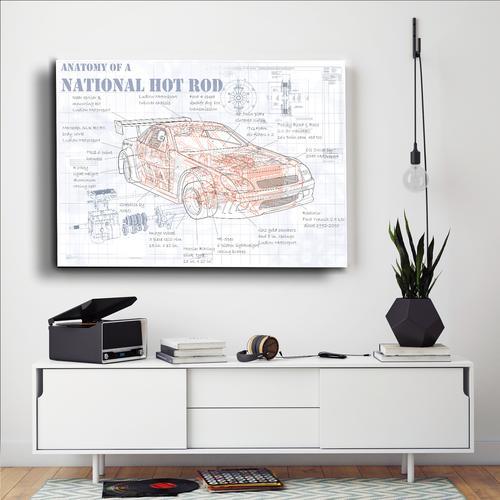 Anatomy National Hotrod | Canvas