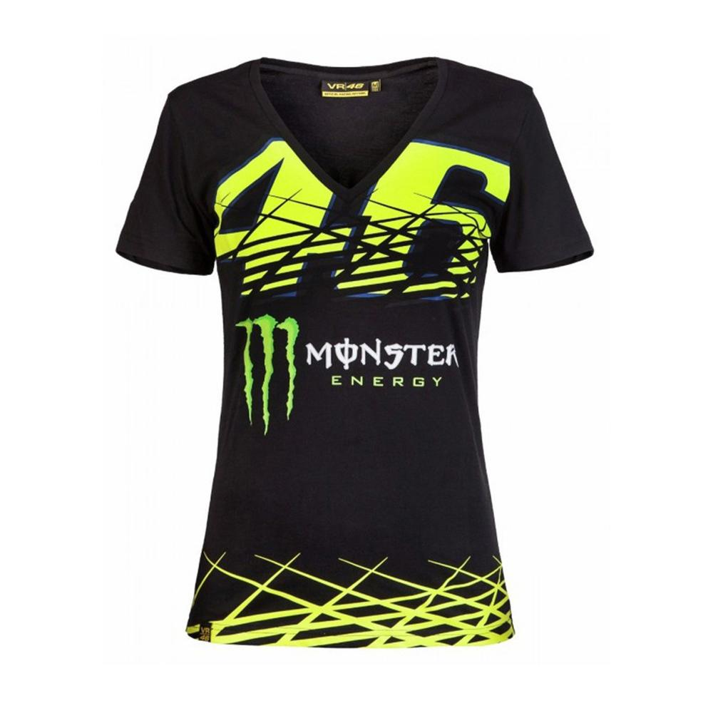 valentino rossi monster t shirt women moto gp apparel. Black Bedroom Furniture Sets. Home Design Ideas