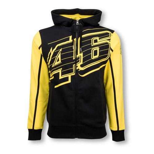 VALENTINO ROSSI ZIP UP BLACK HOODIE | Moto GP Apparel