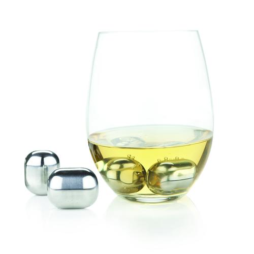 Glacier Rocks Stainless Steel Wine Globes