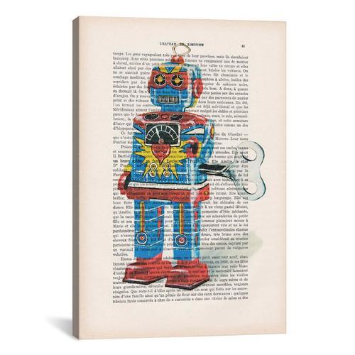 Vintage Paper Series: Robot I