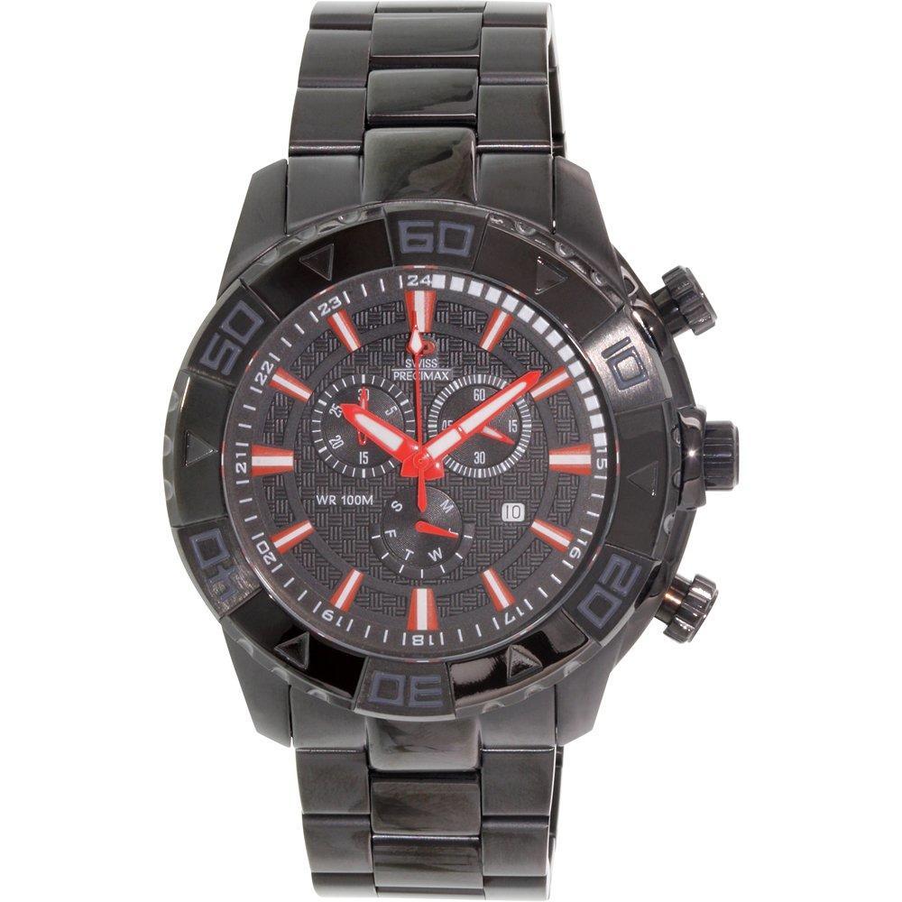 Swiss Precimax Men's Valor Elite Black Stainless-Steel Watch
