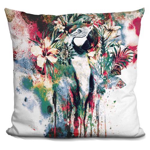 Riza Peker 'Interpretation of a dream-Parrot' Throw Pillow