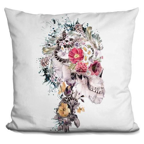 Riza Peker 'Momento Mori X' Throw Pillow