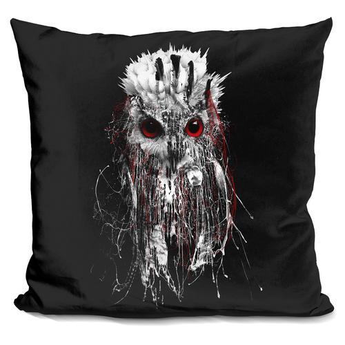 Riza Peker 'OWL - RED EYE' Throw Pillow