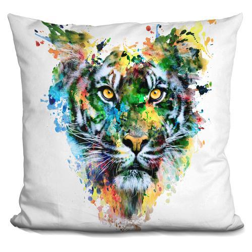 Riza Peker 'TIGER IV' Throw Pillow