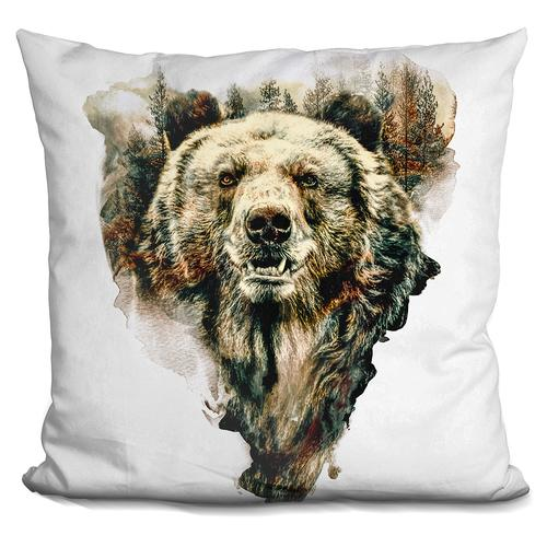 Riza Peker 'Bear' Throw Pillow