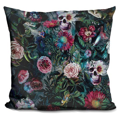 Riza Peker 'Poisonous Forest' Throw Pillow