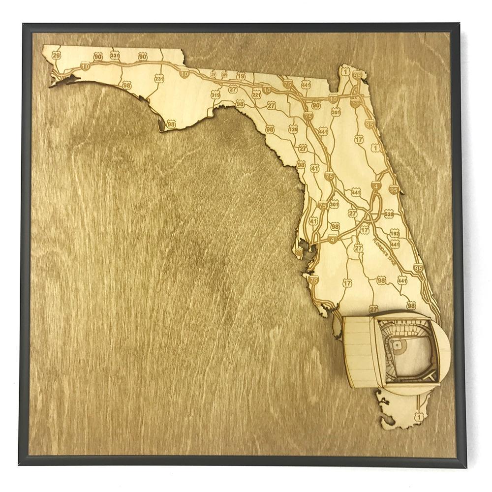 3D Stadium Maps | Miami, Florida (Marlins Park)