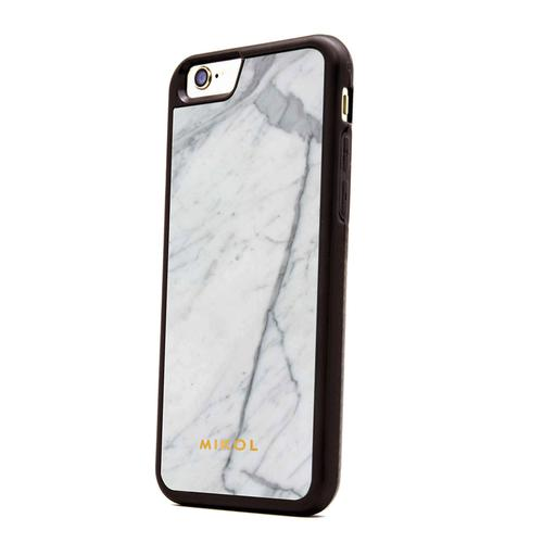 iPhone 7 case | Carrara White with Black Border