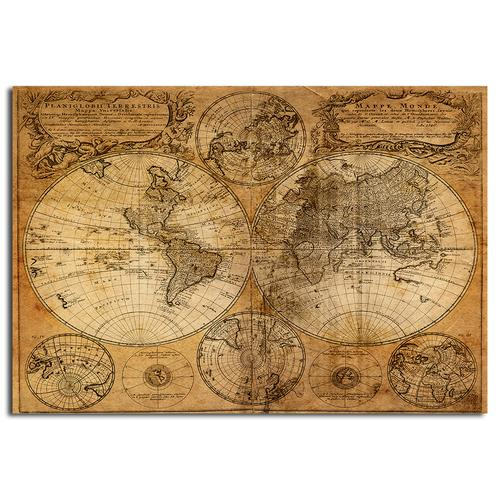 28 antique hemisphere map wall mural old hemisphere for Antique map mural