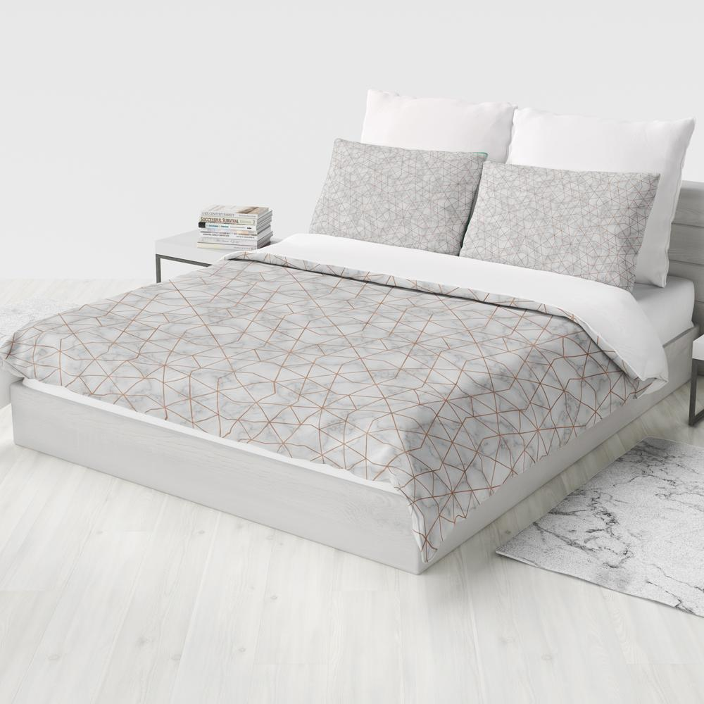 Marble Geometry Duvet Cover Set
