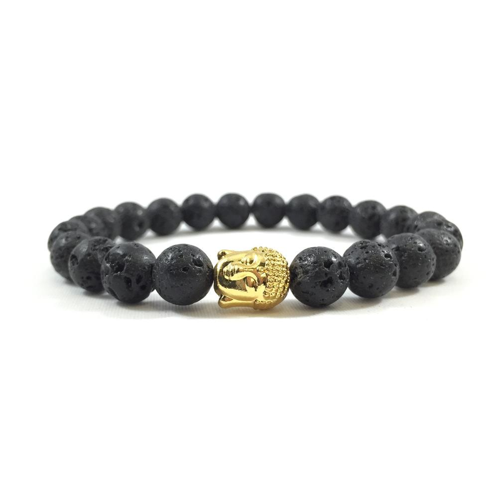 Lava Stone | 24kt Gold Buddha | Executive Society