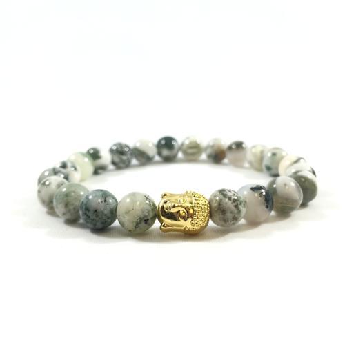 Jade Stone | 24kt Gold Buddha