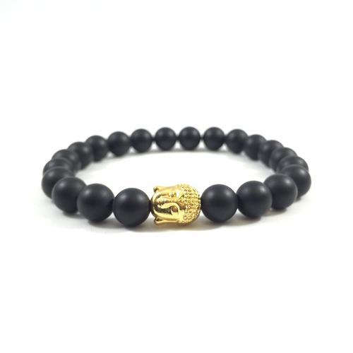 Matte Onyx | 24kt Gold Buddha