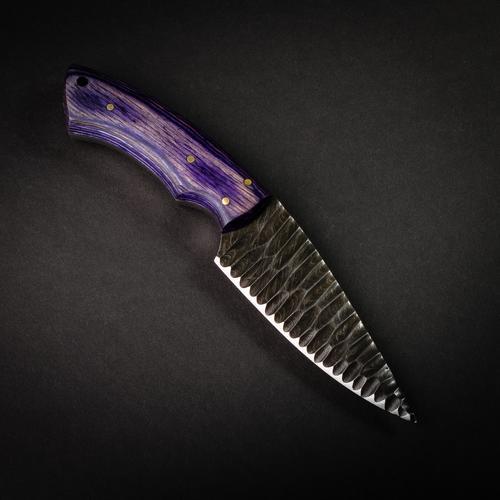Azure Dragon Handmade Damascus Steel Chiseled Knife