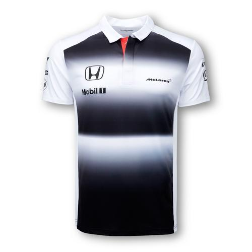 MCLAREN HONDA TEAM POLO SHIRT MENS 2016 REPLICA