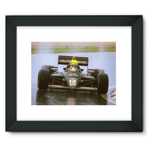Ayrton Senna, Lotus 97T Renault, 1st position | Black